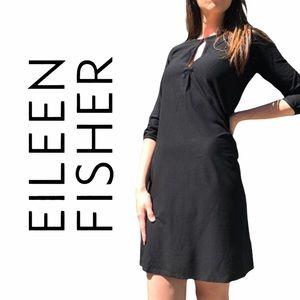 Eileen Fisher- Black Shift Dress